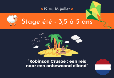 Stage langues pour enfants Wavre Limal Bierges Dion Chaumont Gistoux